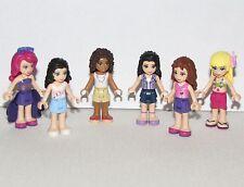 LEGO LOT OF 6 NEW FRIENDS GIRL FEMALE MINIFIGURES EMMA ANDREA OLIVIA MORE