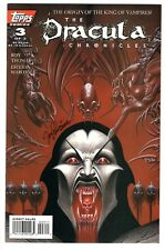 The Dracula Chronicles #1-3 complete (1995, Topps) #3 signed by Linsner NM-