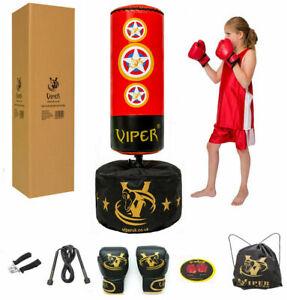 Viper Kids Free Standing Boxing Punch Bag  Set Gloves Kick Junior Children Gift