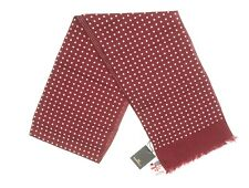 NEW $125 FARRELL RUSSET RED SPOT PRINT WOOL SCARF MADE IN ITALY