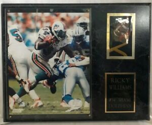 Miami Dolphins #34 Ricky Williams Photo File 2002 Picture Plaque
