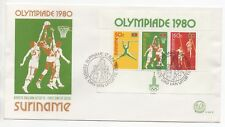 1980 SURINAME First Day Cover OLYMPIC GAMES MOSCOW SG#MS1004 Mini Sheet