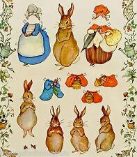 Peter CONIGLIO anziehpuppen carta Bambole Beatrix Potter decorativo caratterizzato paperdoll