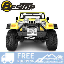 Bestop HighRock Narrow Front Bumper 97-06 Jeep Wrangler & Unlimited Matte Black