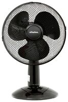 """MPE 12"""" 3 Speed Electric Oscillating Worktop Desk Table Air Cooling Fan - BLACK"""