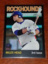 Miles Head 2013 Topps Heritage Minors Black #57 serial numbered 90/96