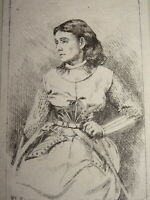 Frédéric REGAMEY (1849-1925) GRAVURE ORIGINALE PARIS à L'EAU FORTE FEMME THEATRE