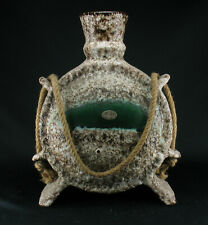 Große XL Jopeko Fat Lava Keramik Vase Objekt mit Kordel 60er 70er Space Age wgp