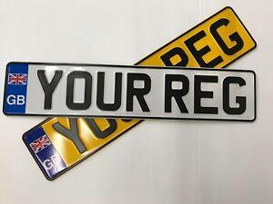 x2 Metal Pressed GB Road Legal Registration Plates