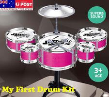 Kids Drum Set Junior Drums Kit Pretend Play Toy Jazz Musical Play Childrens Gift