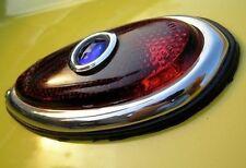 Pair (2) Hot Street Rod 1938 - 1939 Ford Tear Drop Tail Lights w/Blue Dot Lamp