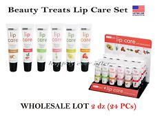 Beauty Treats Natural Lip Care Set - WHOLESALE LOT 2 DZ (24 PCs)