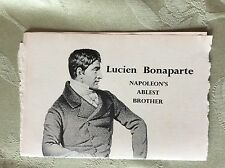 A3a ephemera article lucien bonaparte brother of napoleon