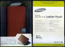 Samsung Galaxy S2 Leather Pouch In Brown Leather