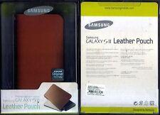 SAMSUNG Galaxy S2 pelle custodia in pelle marrone