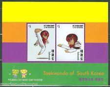 ST. VINCENT GRENADINES 2014  TAEKWONDO OF SOUTH KOREA SOUVENIR SHEET I  MINT NH