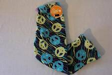 NEW Girls Pajamas PJ Pants Size 4 Lounge Wear Blue Yellow Zebra Peace Soft Botto