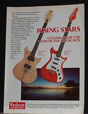 1982 Westone Thunder I and Concord II electric guitars print Ad