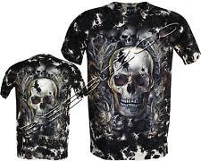 Biker Skull Dragon Snake Grim Reaper Glow In Dark Tattoo Goth Tye Dye T-Shirt
