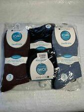 Iomi 9 Pair Foot nurse Gentle Grip Diabetic Socks Men's Size 6-11 VR257 05