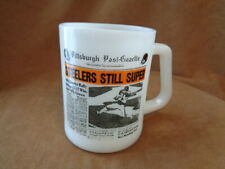 Vintage Pittsburgh Post Steelers Super Milk Glass Federal Mug 1976 Super Bowl