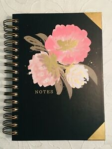 Black and Pink Floral Notebook/Journal