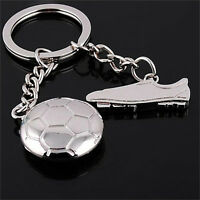 Football Sneakers Silver Metal Keychain Key Ring Pendant Boy Kid Gift Present DS