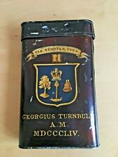 Antique hand painted humidor tin George Turnbull 1854 University of Glasgow