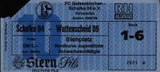 Ticket II. BL 88/89 FC Schalke 04 - SG Wattenscheid 09, Stehplatz Nordkurve Jug.