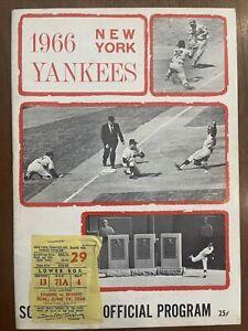 1966 New York Yankees Program/Scorecard, WITH TICKET STUB, COOL!