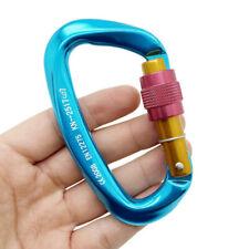 25KN Carabiner Clip Hook Heavy Duty Aluminum D-Ring Screw Lock Rock Climbi$s