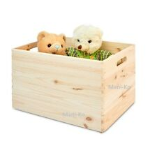Wooden Large Boxes Plain Wood Box Storage Trunk Craft Handles Chest Garage Home