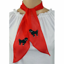 RED Chiffon Scarf for Poodle Skirt/ Sock Hop