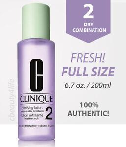 Clinique Clarifying Lotion 2, Dry Combination Skin 6.7 oz / 200 ml FRESH!
