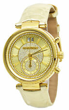 Michael Kors Parker MK2444 Champagne Dial Gold-Tone Leather Band Women's Watch