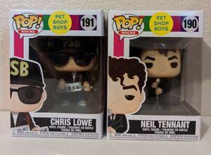 Pet Shop Boys Neil Tennant #190 & Chris Lowe #191 Funko Pop! Set of 2 Figures