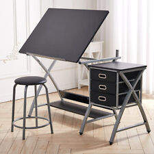 More details for adjustable drafting table writing drawing board art & craft desk workstation