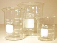 Laboratory Glassware Beaker Flask 3 Piece Set Science Lab Chemistry Graduated