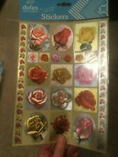 Foiled Dufex Stickers - 1 Sheet - Roses (242562) - Set 3