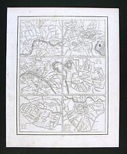 1835 Bradford Map London Paris Madrid Edinburgh Brussels Vienna Europe City Plan