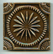 "Relief moulded 3""sq Arts & Crafts tile by Carter & Co, Poole, c1900"