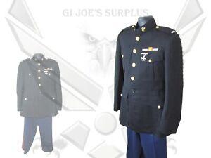 Vintage USMC Marine Officer Blue Black Dress Uniform Lieutenant O2 HC