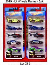 Hot Wheels DC Batman 5 Pack New 2019 Batmobile, Joker, Killer Croc, Batcopter