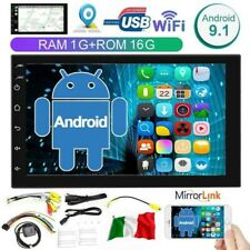 7'' 2DIN Autoradio Android 9.1 Car Radio Lettore MP5 GPS BT Touch Screen USB HD
