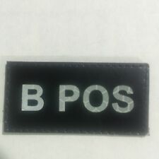 IR B Positive Blood Type Patch Velco Hook Backing