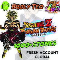 🌟Dokkan Battle - Broly TEQ LR with 1000+ Dragon Stones Fresh Global 🌟
