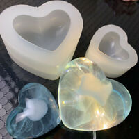 3D Silicone Mold Mould Love Heart Handmade Soap Candy Baking Tool
