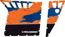 Pro Armor Graphics Kit w Cut Outs Orange / Blue Polaris RZR 800 900 XP S 08-14