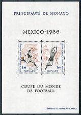 Monaco 1986 Foglietto Mondiali di calcio Messico '86 MNH