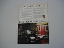 advertising Pubblicità 1987 ROVER 213 SE 1300